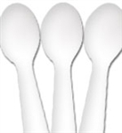 Ideal Brand Taster Spoons 3in. White