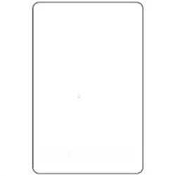 Hobart Ultima Scale Label Blank - 2.25 in. x 3.5 in.