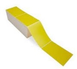 Yellow White Fanfold With Perforated Label