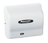 Advantage AD Series White Abs Cover Hand Dryer - 5.63 in. x 10.13 in.