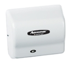 Advantage AD Series White Abs Cover Automatic Hair Dryer - 5.63 in.