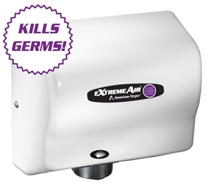 Extremeair White ABS Cover 1500 W Max Hand Dryer - 5.63 in. x 10.13 in.