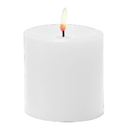 Sterno White Pillar Candle - 3 in. x 3.5 in.