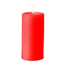 Sterno Red Pillar Candle - 3 in. x 6 in.