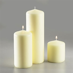 Sterno White Pillar Candle - 3 in. x 6.5 in.