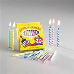 Sterno Spiral Stripe Birthday Candles Assorted Color