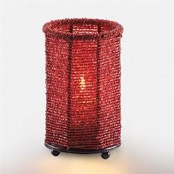 Sterno 12 Hour Red Beaded Lamp - 5 in.