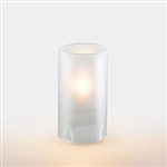 Sterno Crimp Glass Square Lamp Frost - 4.5 in.