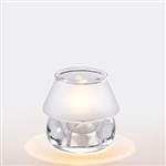 Sterno Frost Shade Glass Clear Lamp - 3.5 in.