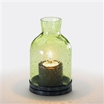 Sterno Glass Lantern Green Lamp - 4.5 in.