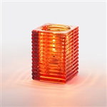 Sterno Square Glass Kelly Orange Lamp - 4 in.
