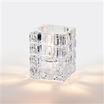 Sterno Square Glass Krystle Clear Lamp - 3.75 in.