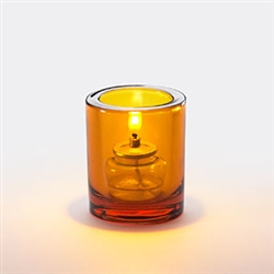 Sterno Amber Mini Bubbles Lamp Round - 3.25 in.