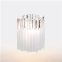 Sterno Mini Ribbed Glass Square Frost Lamp - 4.5 in.