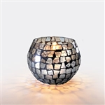 Sterno Mirror Mosaic Round Sphere Shape Lamp - 3.25 in.