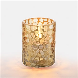 Sterno Gold Mosaic Votive Lamp - 3.5 in.
