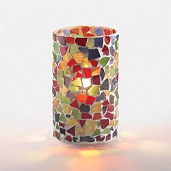 Sterno Multicolor Mosaic Lamp - 5 in.