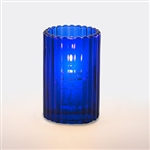 Sterno Round Glass Blue Paragon Candle Lamp - 5 in.