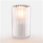 Sterno Round Glass Frost Paragon Candle Lamp - 5 in.