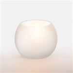 Sterno Sphere Frost Glass Lamp White - 2.75 in.