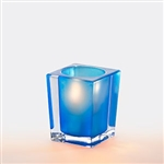 Sterno Blue and Clear Square Large Lamp - 3.75 in.