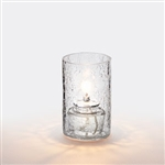 Sterno Clear Crackle Votive Glass Lamp - 3.5 in.