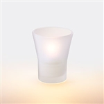 Sterno Fluted Frost Votive Lamp - 4 in.