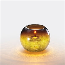 Sterno Amber Sphere Lamp - 3.25 in.