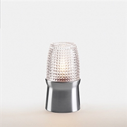 Sterno Brushed Silver Base Cocktail Lamp - 5.75 in.