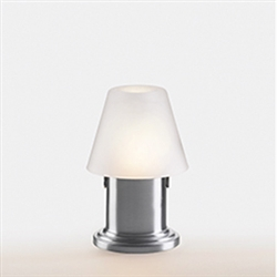 Sterno Brushed Silver Cylinder Base Lamp - 5.75 in.