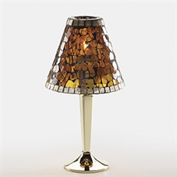 Sterno Candlestick Polished Brass Base Lamp - 12 in.