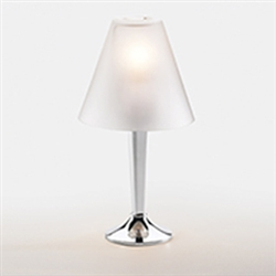Sterno Chrome Candlestick Base Lamp - 11.75 in.