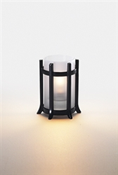 Sterno Castle Black Base Lamp - 4 in.