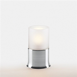 Sterno Brushed Silver Flare Base Lamp