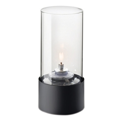 Sterno Hurricane Black Metal Base Lamp