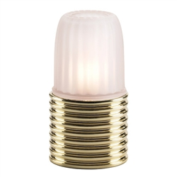 Sterno Ribbed Brass Base Lamp