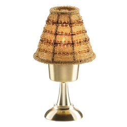 Sterno Satin Brass Stem Base Lamp