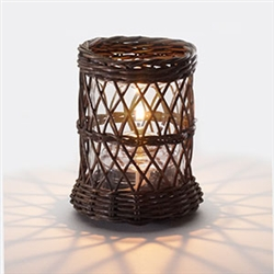 Sterno Brown Wicker Base Lamp