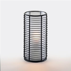 Sterno Horizontal Black Wire Design Metal Base Lamp