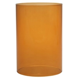 Sterno Orange Clear Cylinder Globe - 5.5 in. x 3.75 in.