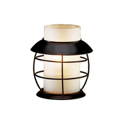Sterno Frost Cylinder Globe Table Lamp - 5 in. x 3 in.