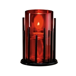 Sterno Red Cylinder Globe Table Lamp - 5 in. x 3 in.