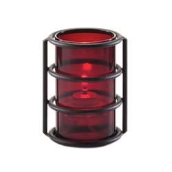 Sterno Red Plastic Cylinder Globe