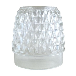 Sterno Diamond Point Clear Globe Table Lamp