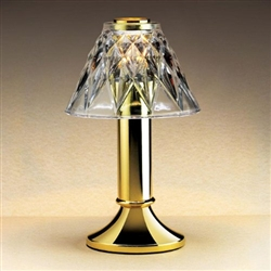 Sterno Glass Diamond Cut Clear Shade Table Lamp