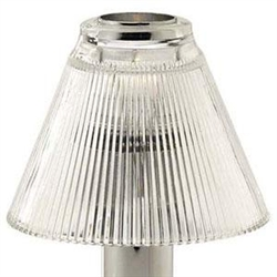 Sterno Clear Glass Pleated Shade Table Lamp