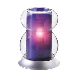 Sterno Interchangeable Purple Shade Lamp