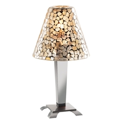 Sterno Light Gold Mosaic Shade Lamp