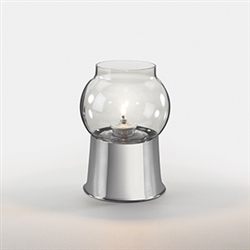 Sterno Cocktail Silver Base Table Lamp - 5.75 in.