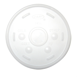 Translucent Straw Slotted Specialty Lid for 10 oz. Cups